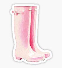 Pink Rain Boots Sticker