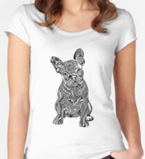 Polynesian French Bulldog Women's Fitted Scoop T-Shirt