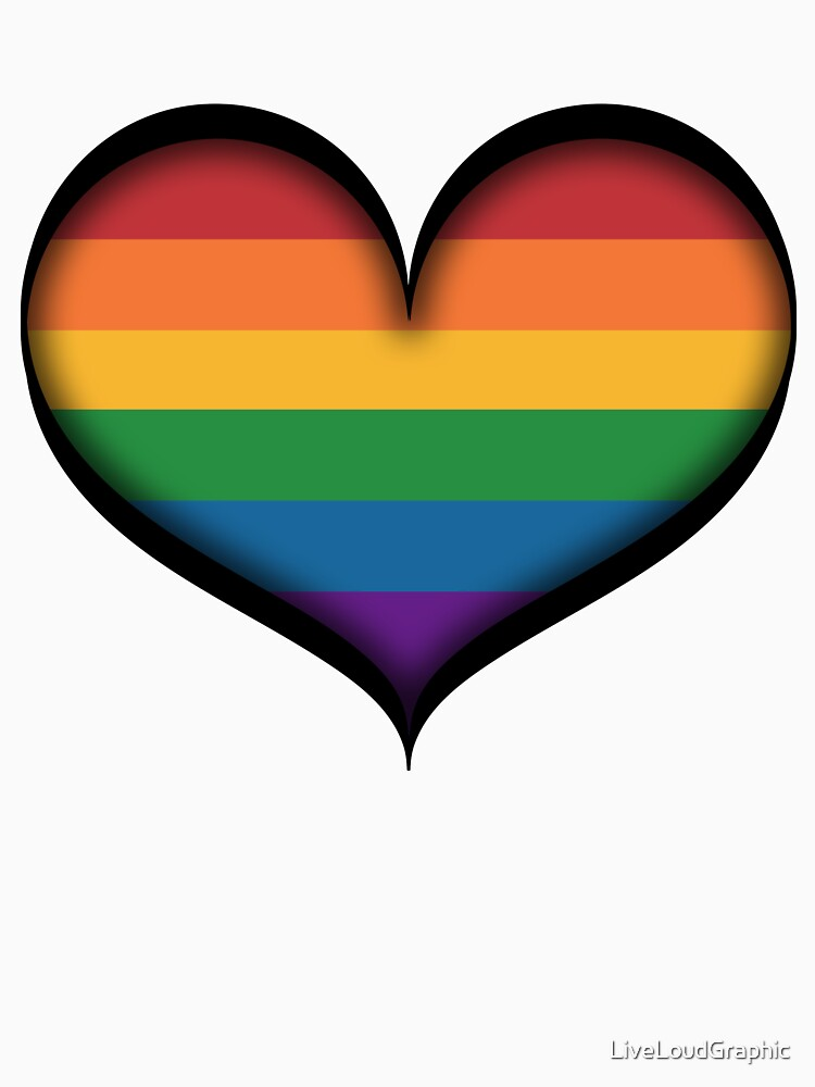 LGBT Rainbow Heart by LiveLoudGraphic