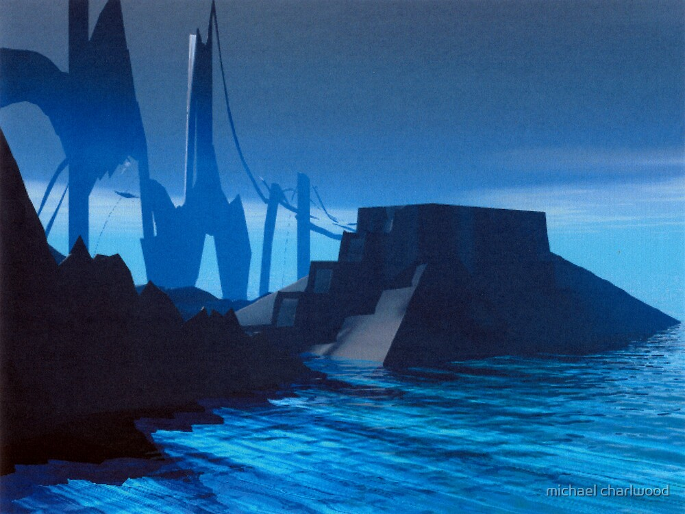 city by the sea 2200 AD by michael charlwood
