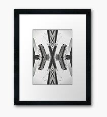 Black and White Abstract Art - City One Framed Print