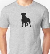 Rottweiler Silhouette(s) Unisex T-Shirt