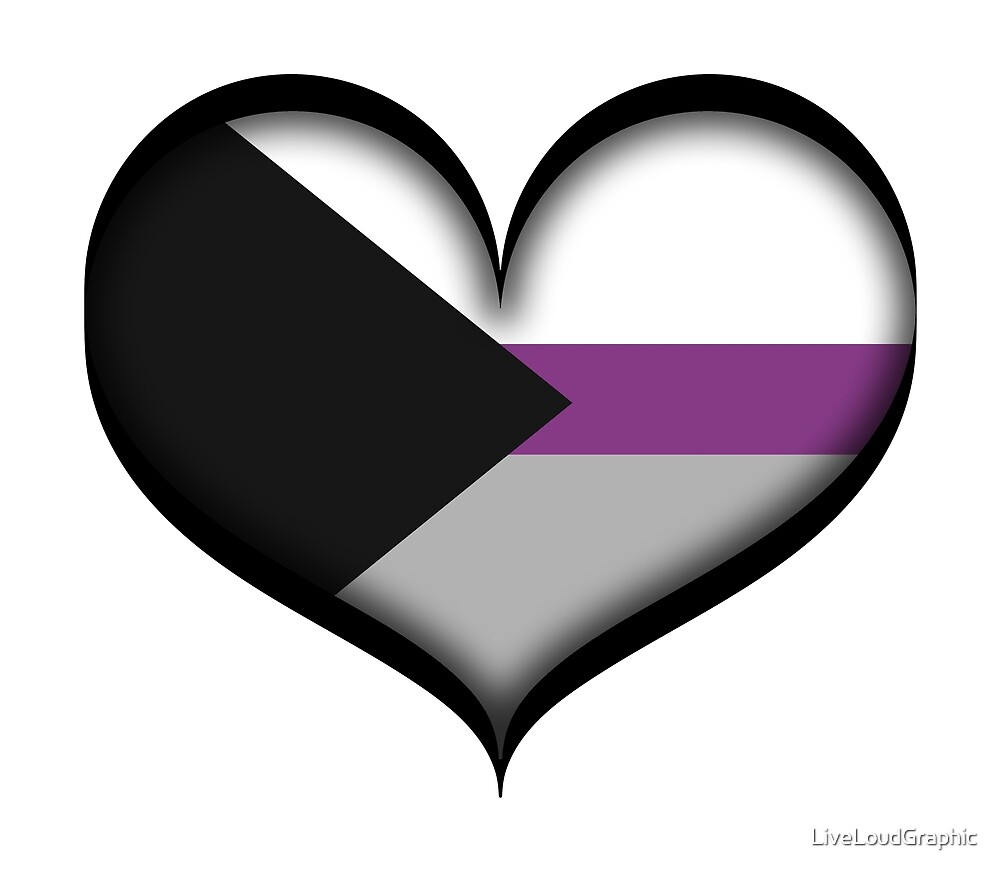 Demisexual Heart by LiveLoudGraphic