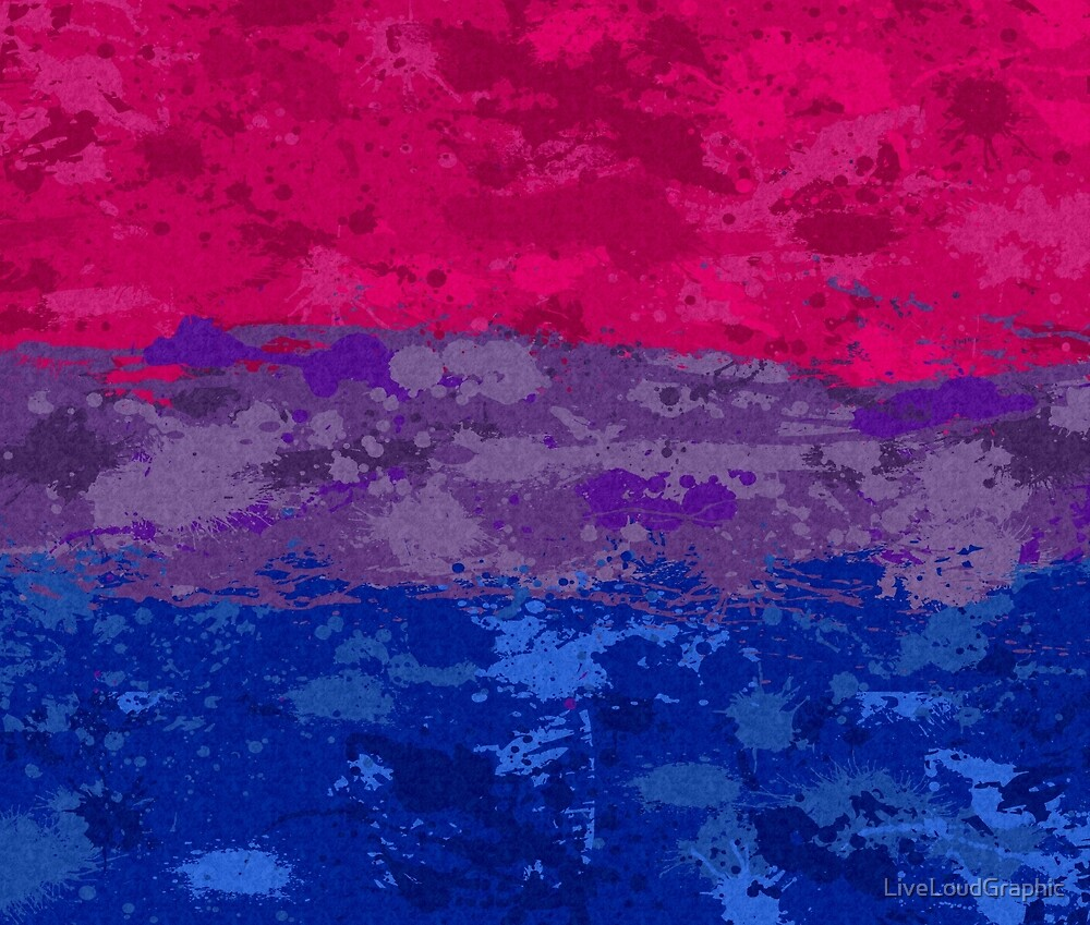 Bisexual Paint Splatter Flag by LiveLoudGraphic
