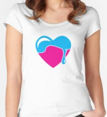 Love heart dripping cute! Women's Fitted Scoop T-Shirt