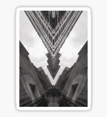 Black and White Abstract Art - City Four Sticker