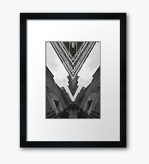 Black and White Abstract Art - City Four Framed Print