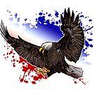 Bald Eagle - Red, White & Blue by Adamzworld