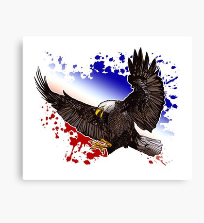 Bald Eagle - Red, White & Blue Canvas Print