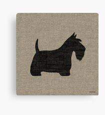 Scottish Terrier Silhouette(s) Canvas Print