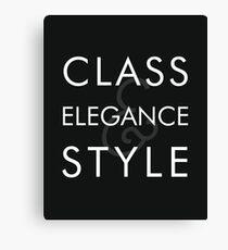Class, Elegance, Style Canvas Print