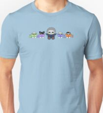 Reading is a Family Affair: Grandpa Yo and O'BABYBOT Toy Robots 1.0 Slim Fit T-Shirt