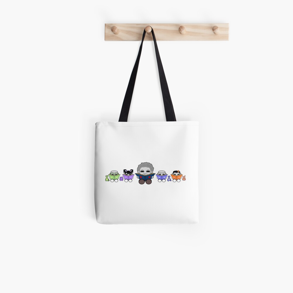 Reading is a Family Affair: Grandpa Yo and O'BABYBOT Toy Robots 1.0 Tote Bag
