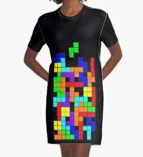 Tetris blocks Graphic T-Shirt Dress