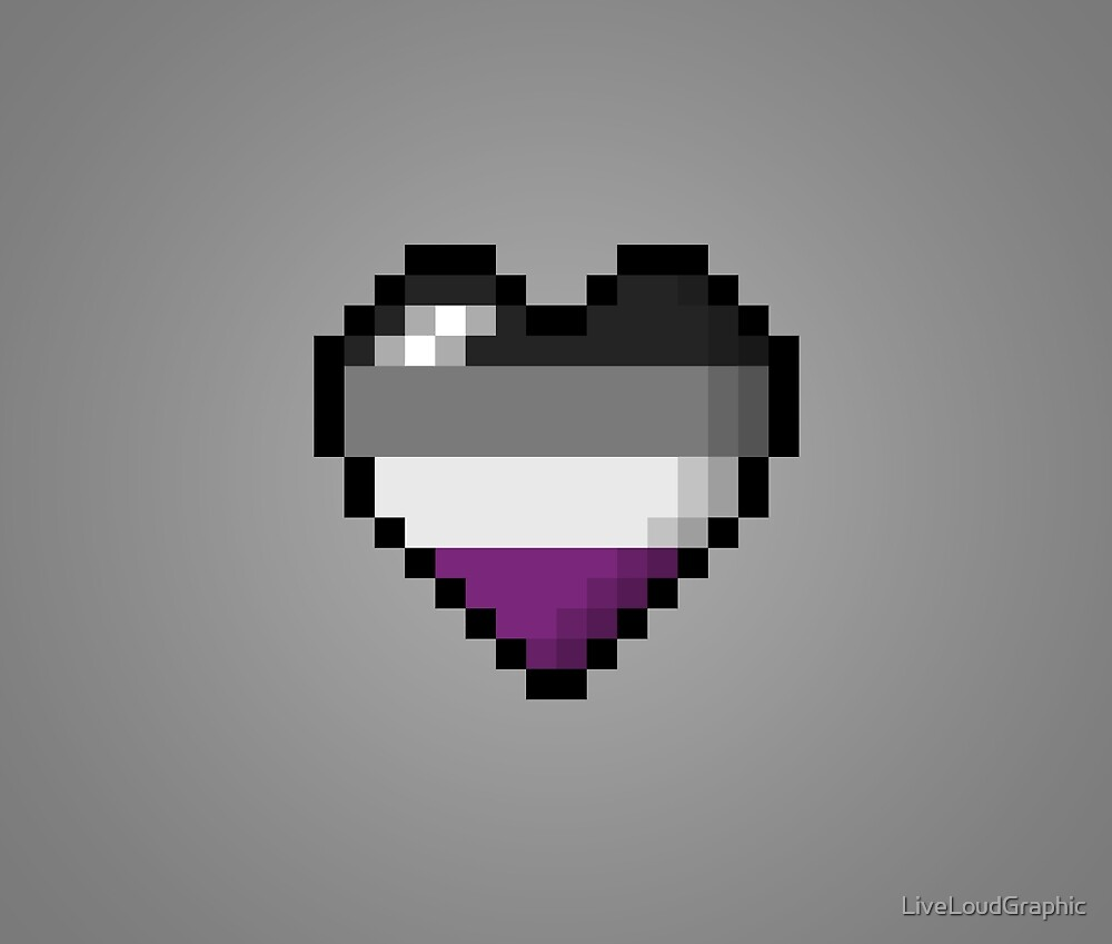 Asexual Pixel Heart by LiveLoudGraphic