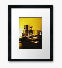Yellow City Framed Print
