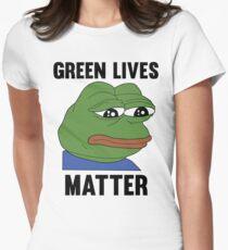 PEPE GREEN LIVES MATTER #GREENLIVESMATTER Womens Fitted T-Shirt