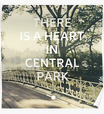 New York (There is a Heart in Central Park) Poster