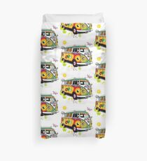 Vw Peace Love & Camper Duvet Cover