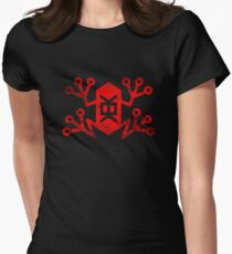Memetic Warfare KEK Frog -red weathered- Womens Fitted T-Shirt