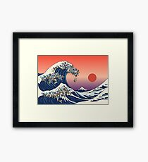 The Great Wave of Pug Framed Print