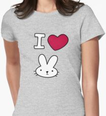 I<3Bunny Women's Fitted T-Shirt