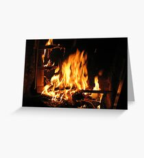 Immortals Fireplace Greeting Card