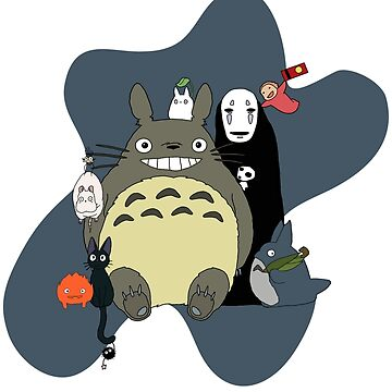 Studio Ghibli: Totoro, Jiji, Calcifer, Forest Spirit, Ponyo, Rat, Fly, Soot Sprite (customisable, check description!) by AATdesign