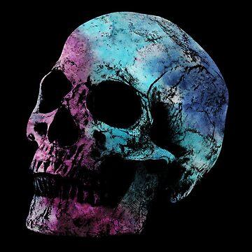 WaterColor Skull by Elyzewin