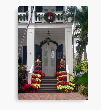 Pretty Christmas Deco in Key West, FL Canvas Print