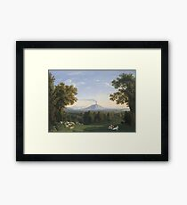 Jacob Philipp Hackert - Landscape With The Palace At Caserta With The Vesuvius Framed Print