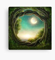 Magischer Mondbaum Leinwanddruck