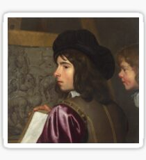 Jacob Van Oost The Elder - Two Boys Before An Easel Sticker