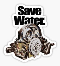 Save Water. Sticker