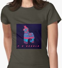 F U GERALD Psychedelic Womens Fitted T-Shirt