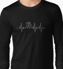 Bitcoin Heartbeat Long Sleeve T-Shirt