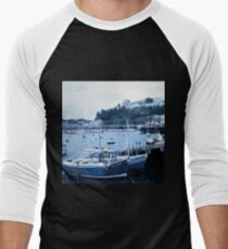 Landscapes: Torquay Harbour Men's Baseball ¾ T-Shirt