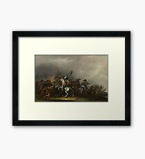 Jacob Weier - Cavalry Attacked By Infantry Framed Print
