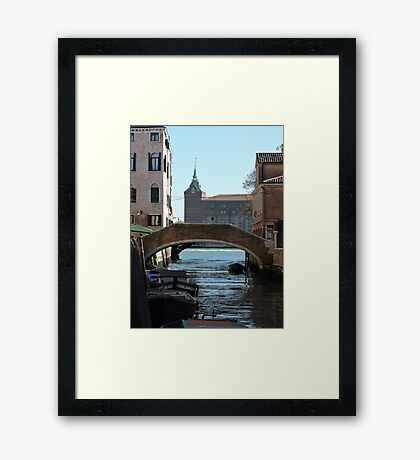 Venetian Bridge 080417 Framed Print