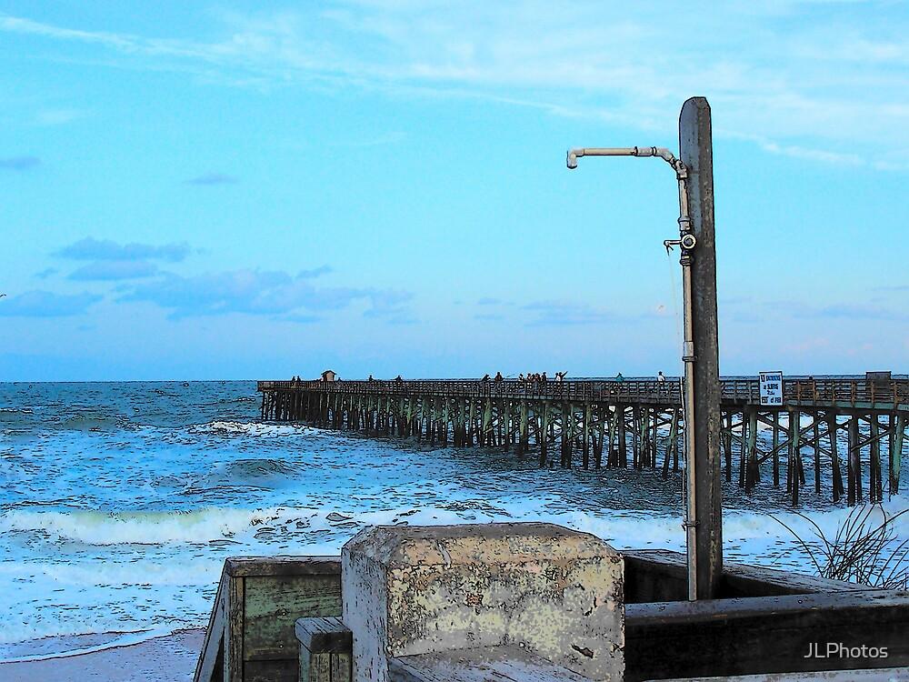 sunset pier by JLPhotos