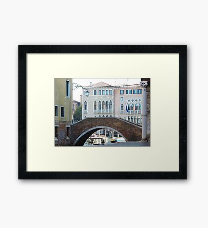 Venetian Bridge 090417 Framed Print