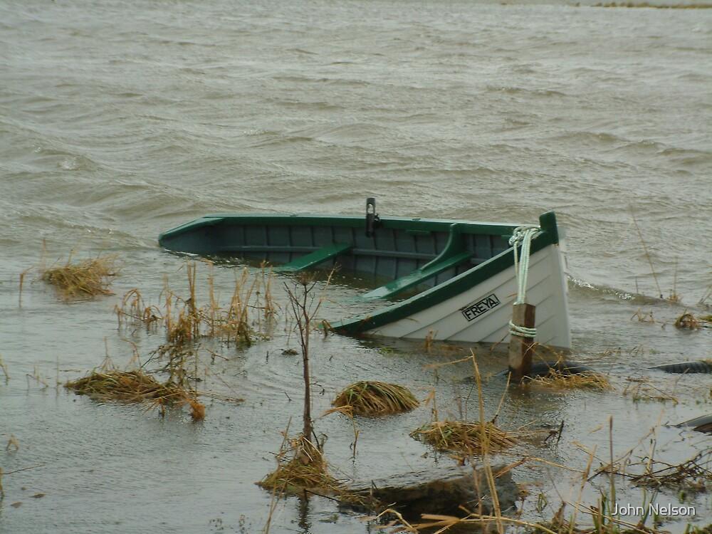 Sunken Boat by John Nelson