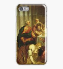 Jacopo Tintoretto - The Conversion Of Mary Magdalene iPhone Case/Skin
