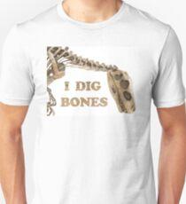 """I Dig Bones"" Dinosaur Skeleton Unisex T-Shirt"