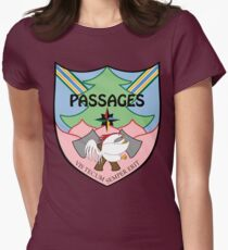 """Passages Through Time Coat of Arms by Kira """"Karma"""" Atwood-Youngstrom Womens Fitted T-Shirt"""