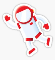 Space Mission Astronaut Sticker