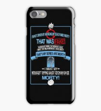 "Rick and Morty ""Dipping Sauce"" iPhone Case/Skin"