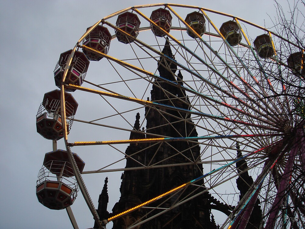 Scott Memorial and Winter Wheel by Prys