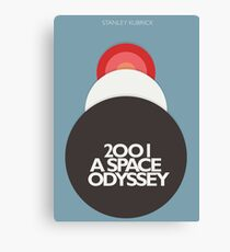 Stanley Kubrick, 2001 A Space Odyssey, minimal movie poster, sci-fi, fantasy classic film, blue version Canvas Print