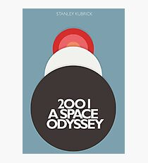 Stanley Kubrick, 2001 A Space Odyssey, minimal movie poster, sci-fi, fantasy classic film, blue version Photographic Print